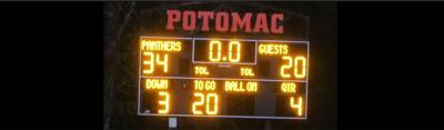 Potomac School scoreboard