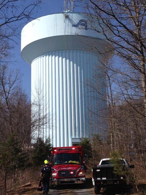 Updated Worker Falls Into Empty Haymarket Water Tower