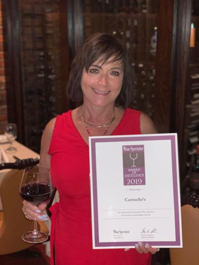 Carmello's wins Wine Spectator Magazine's 2019 Award of Excellence