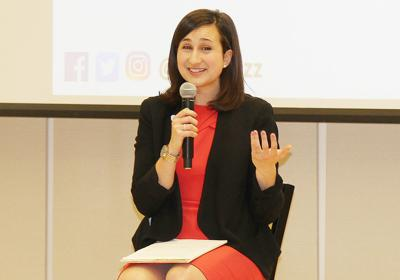 Katie Cristol speaks at Leadership Center for Excellence event
