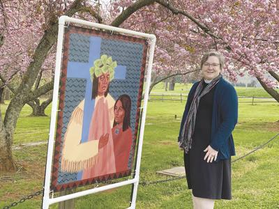 Little Fork Episcopal Church offers outdoor Stations of the Cross with Native American imagery