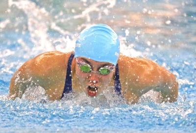 Yorktown swimmer Huske