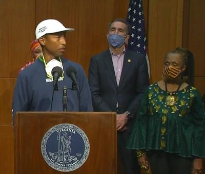 Pharrell Williams Northam news conference
