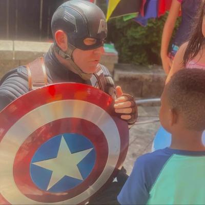 Local Captain America brings hope