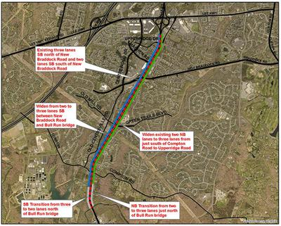Route 28 widening map Fairfax County 2021