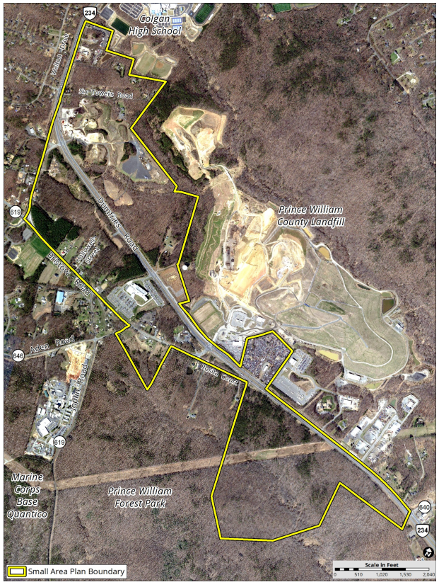 Independent Hill Small Area Plan boundaries
