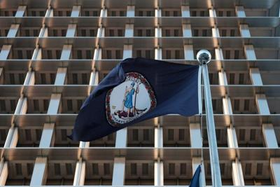 Virginia flag state government building