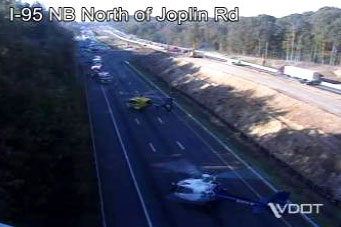 Two people airlifted to hospital after crash on I-95 in