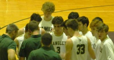 Langley boys hoop huddle