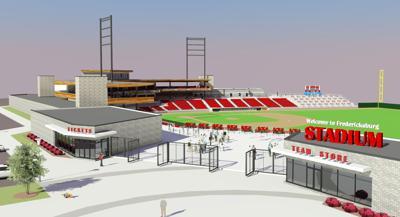 Baseball stadium in Fredericksburg