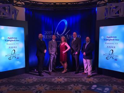 Appleton Campbell receives 2019 President's Award from Carrier, earning honors as outstanding dealer