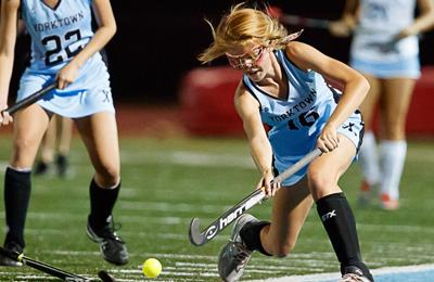 Yorktown field hockey action