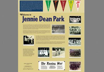 Commemorative markers on way at Jennie Dean Park
