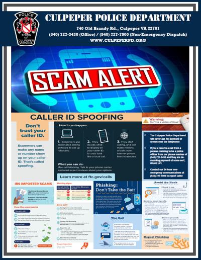 Culpeper scam alert flyer