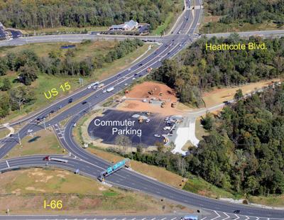 Interstate 66 commuter lot in Haymarket