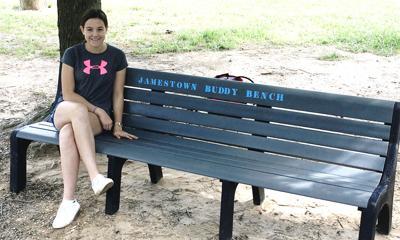 Arlington elementary-school playground gets a buddy-bench