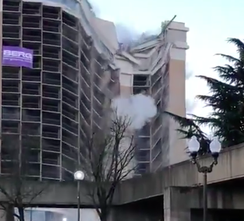 Holiday Inn implosion