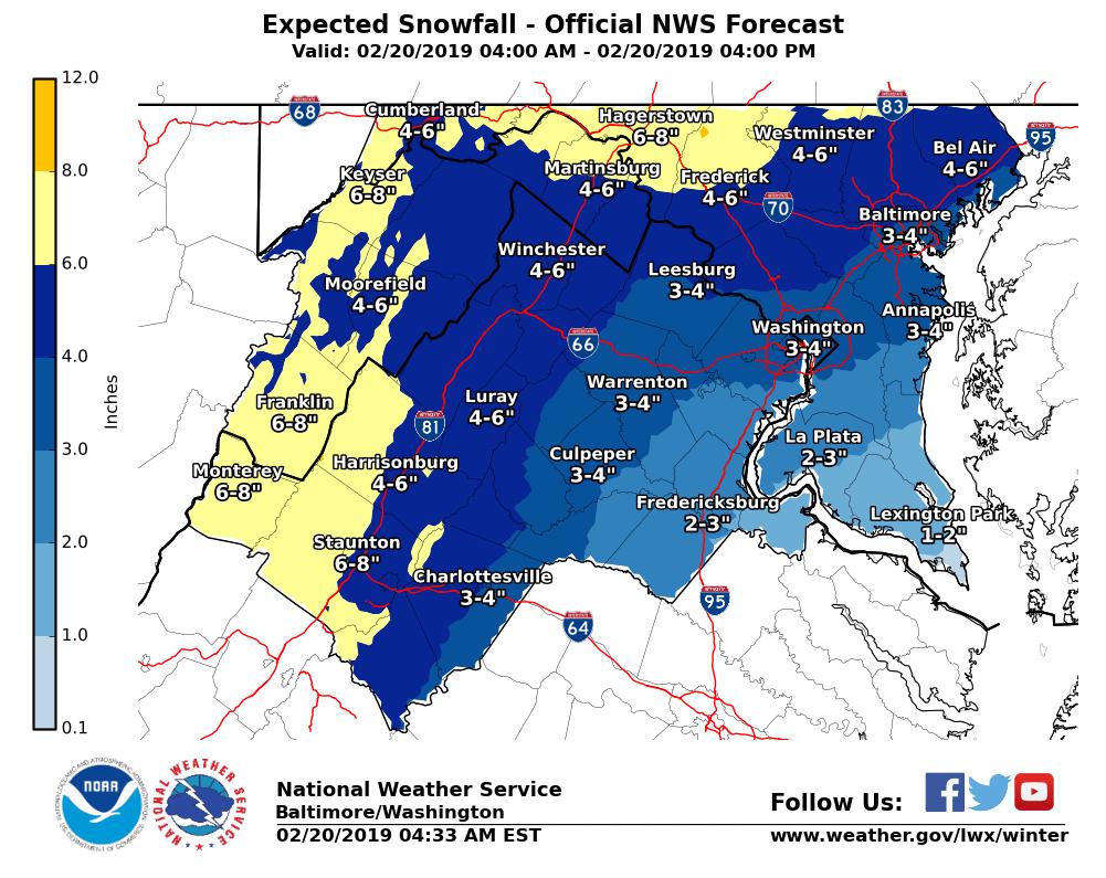 Snow Sleet Move Through Northern Virginia Vdot Avoid Travel During Storm