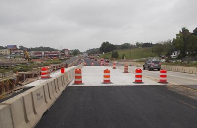 Traffic shift on U.S. Route 1 in Woodbridge on Monday