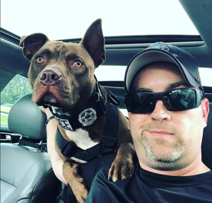 Facing death row, pit bull becomes police dog