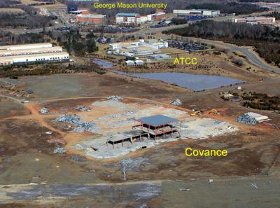 Structure demolition at Innovation Park