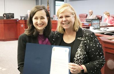 Betsy Frantz honored by Arlington County Board