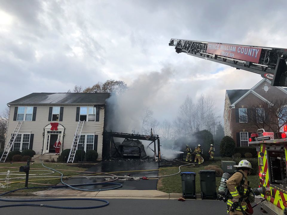 Fire damages Bristow home Wednesday