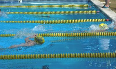 Empty swim lanes at meets