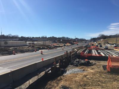 U.S. 1 widening construction in Woodbridge