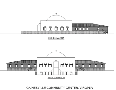 ADAMS center rendering Nokesville mosque