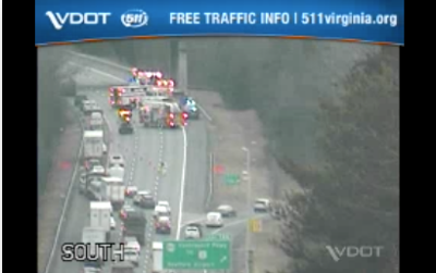 Wreck closes lanes on Interstate 95 Tuesday