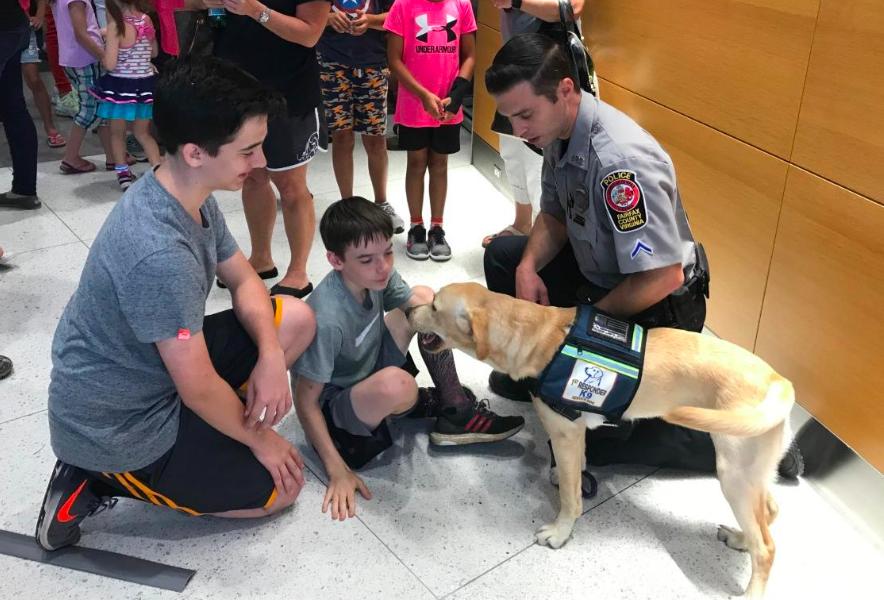 Fairfax police comfort dogs