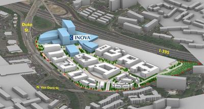 Landmark Mall Inova redevelopment rendering December 2020