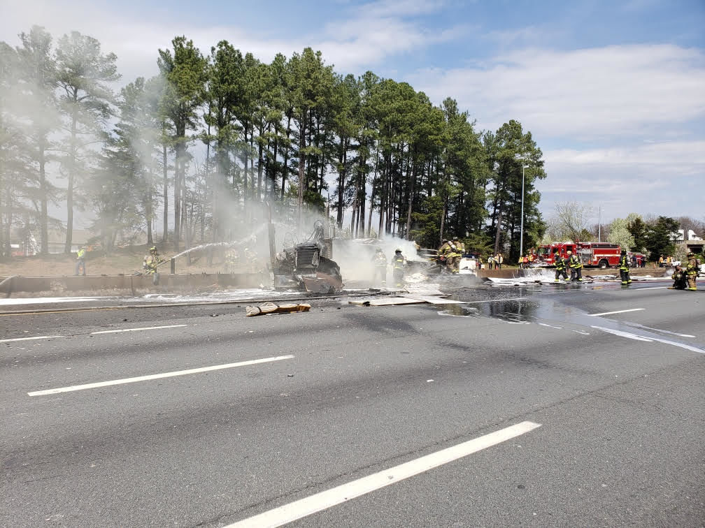 UPDATED: Interstate 495 reopens following truck fire in Alexandria