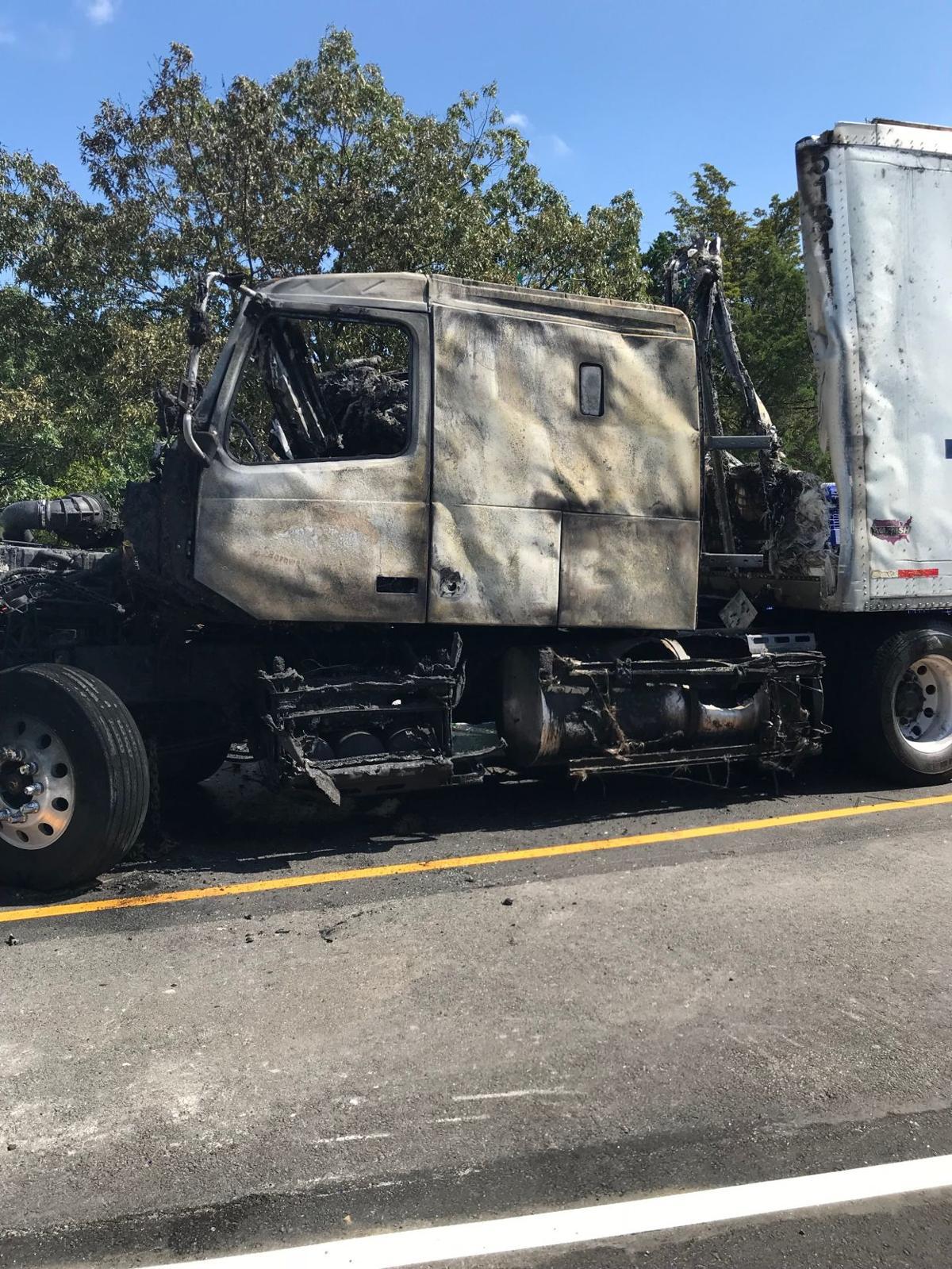 Tractor trailer crash, fire Wednesday impacting I-495/I-395 traffic