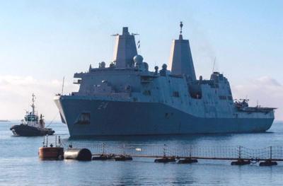 USS Arlington lauded for battle proficiency