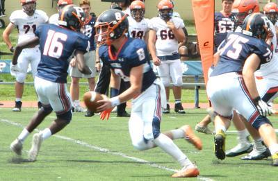 Potomac School football action