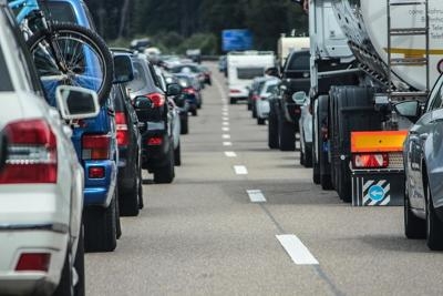 Traffic jam interstate highway pixabay