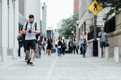 Pedestrians Walking Crowd Pixabay