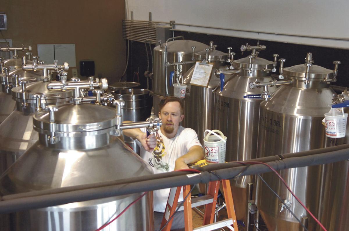 Adventure Brewing Company head brewer Bryan Link