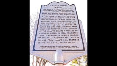 Historial marker notes legacy of 'segregation wall' in Arlington