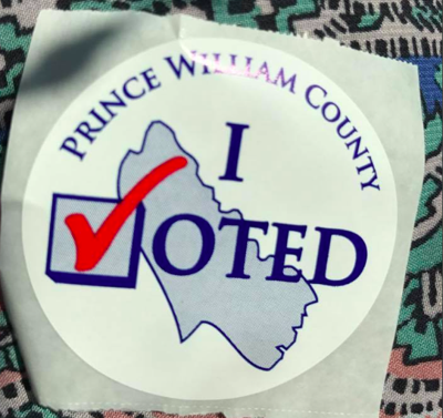 I Voted Prince William County sticker