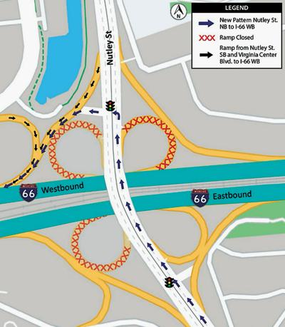 Temporary ramp, traffic signal added to Nutley/I-66 intersection