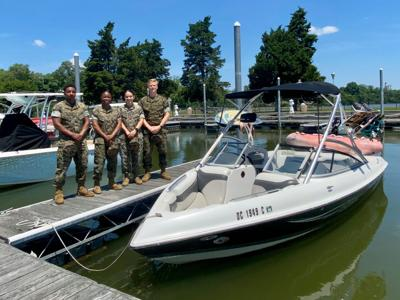 Marines rescue father and son on Potomac River