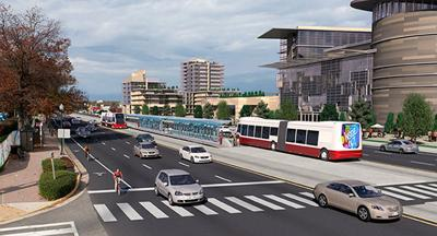 Route 7 bus-rapid-transit concept