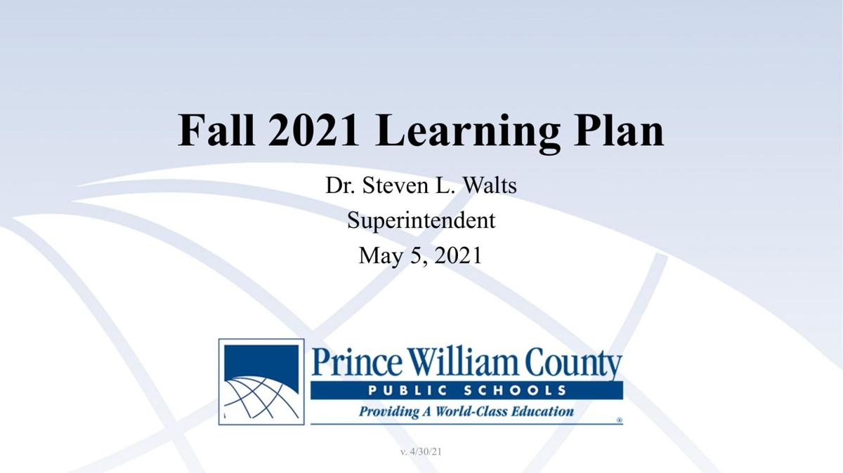 Prince William schools fall learning plan