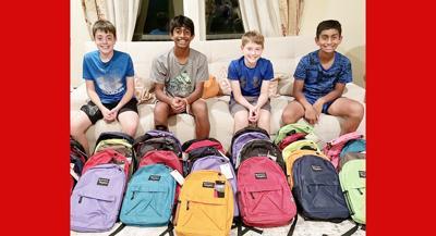 Siblings lead backpack effort