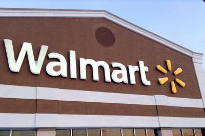 Walmart wal-mart logo storefront