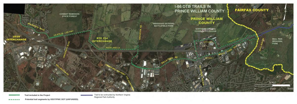 Planned Bike Path Along I 66 Stops Short Of Gainesville Prince