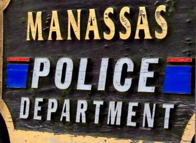 generic manassas police sign up close